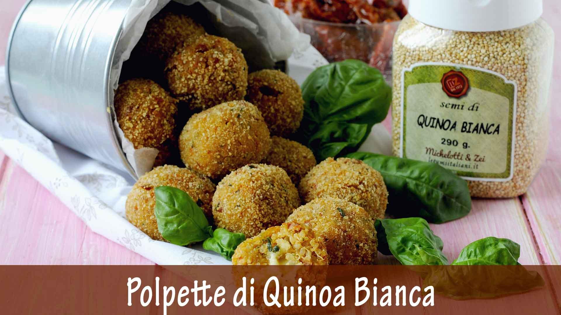 Polpette di Quinoa Bianca con Pomodori Secchi, Basilico e Scamorza Filante