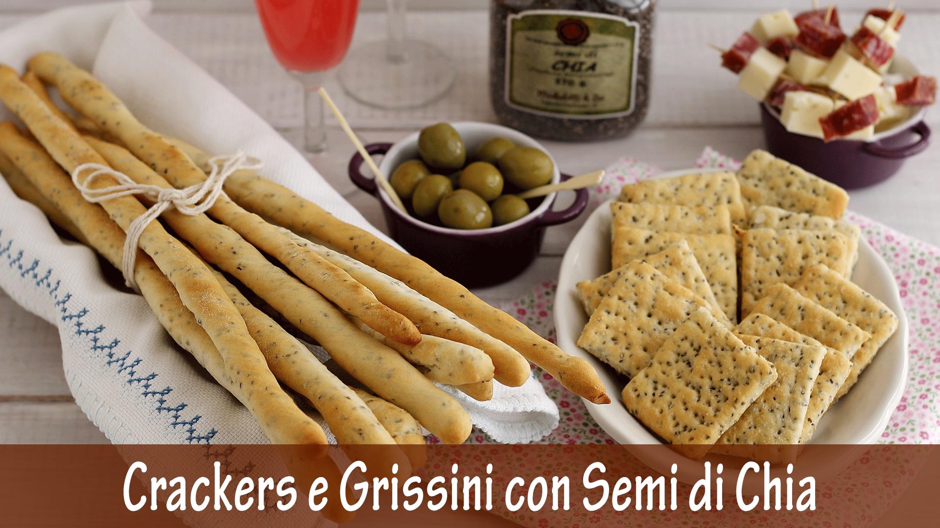 Crackers e grissini con Semi di Chia