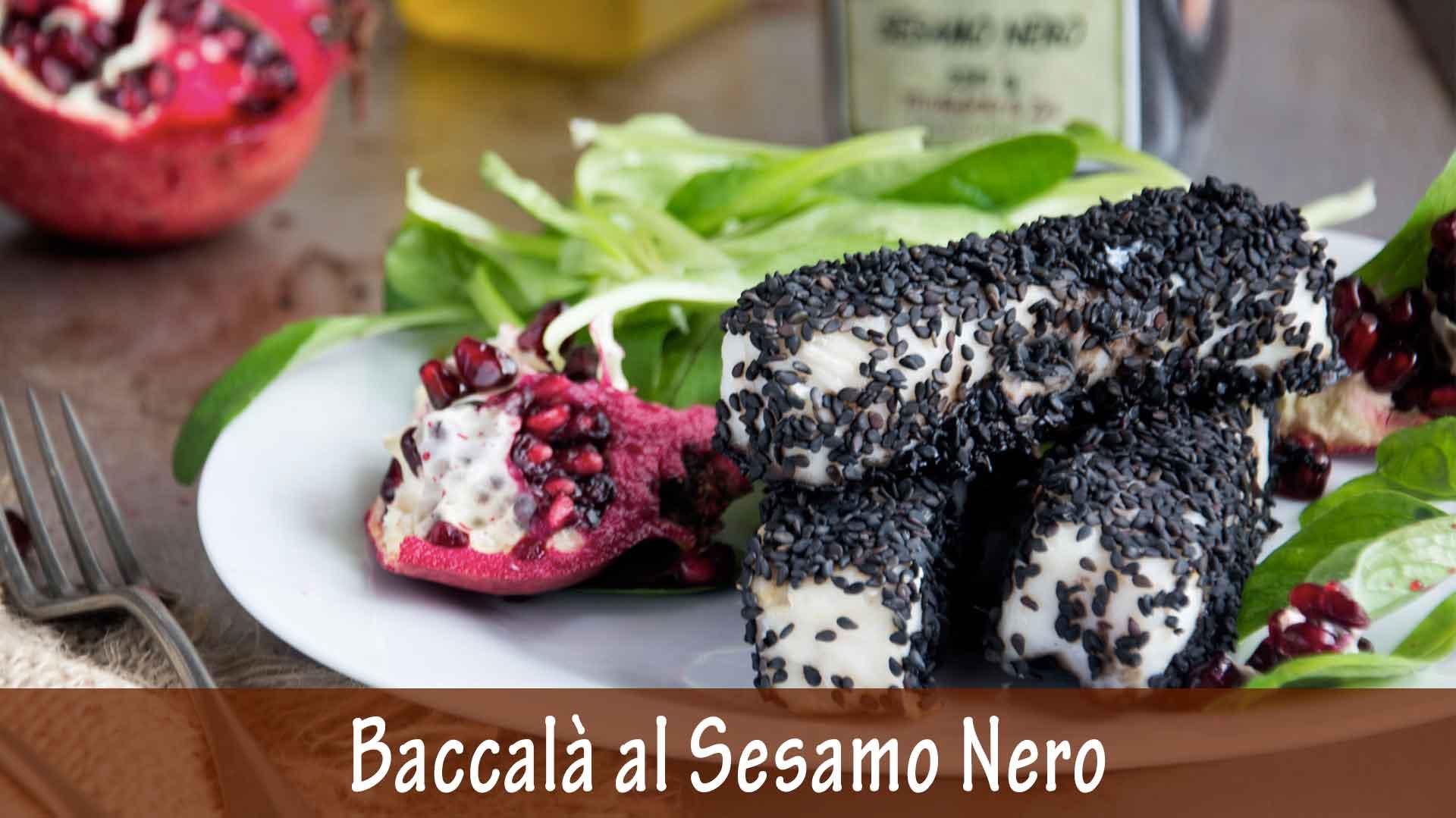 Filetto di Baccalà al Sesamo Nero