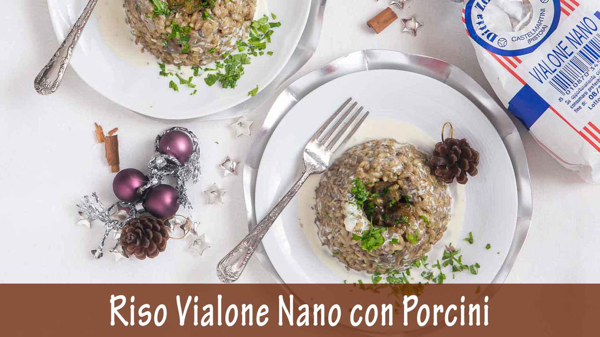 Riso Vialone Nano con Funghi Porcini e Crema di Formaggio