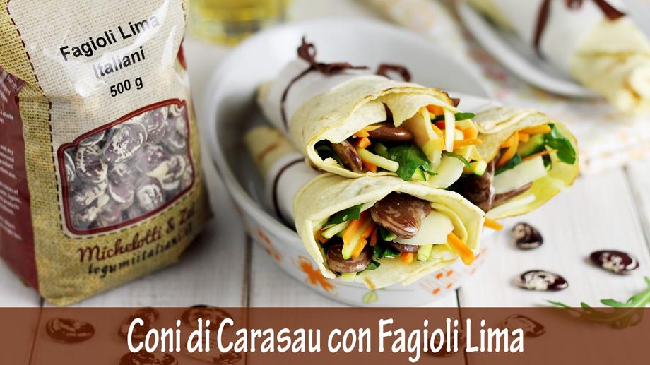 Coni di Carasau con Fagioli Lima e Verdure