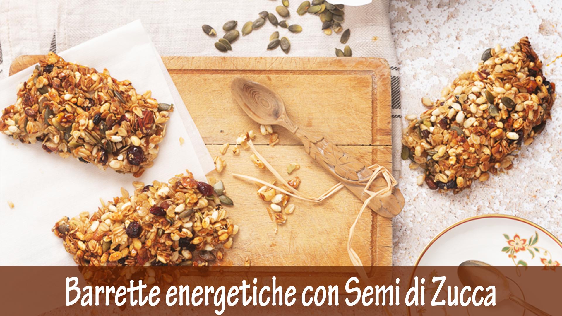 Barrette energetiche con Semi di Zucca e Bacche di Goji